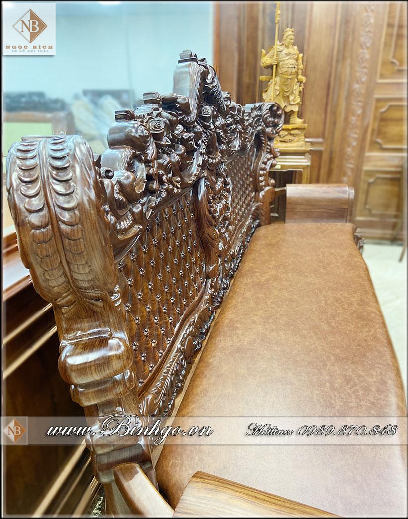 Bộ Sofa tân cổ điển gỗ Cẩm Lai