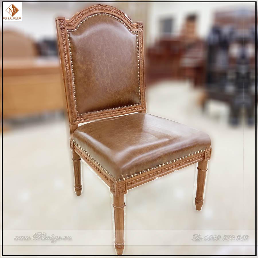 Ghế họp chân tĩnh gỗ tự nhiên. Mẫu Ghế Họp Putin - Mã: Putin - 68. kích thước: 48x48x112cm. Được làm bằng chất liệu gỗ Gõ Đỏ, bọc Da nhập khẩu.